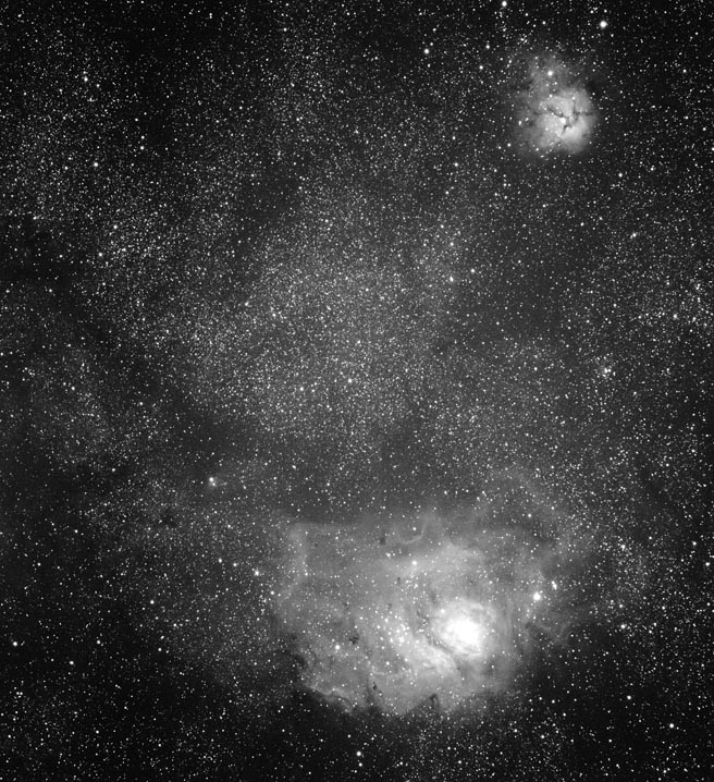 The Lagoon and Trifid Nebulae